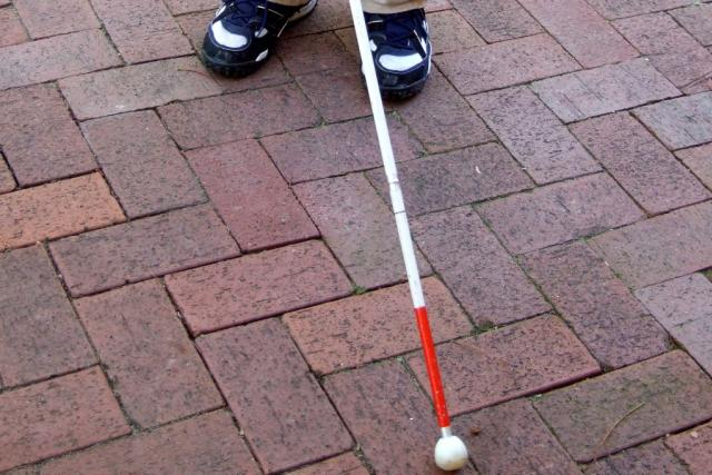 Hůlka nevidomého člověka, ilustrační foto