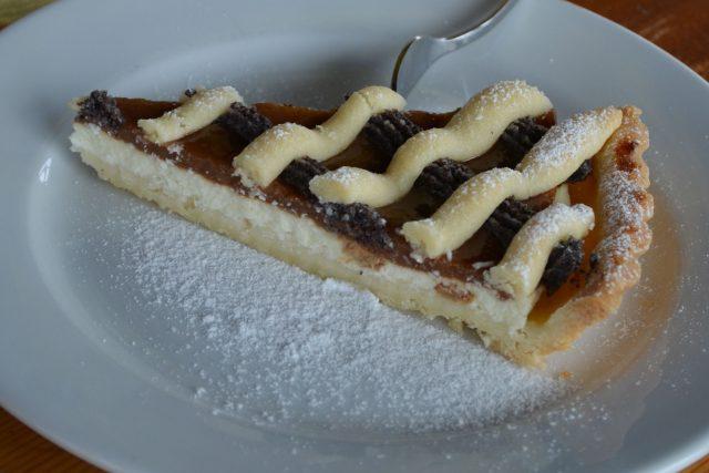 Mřížkový koláč z lineckého těsta