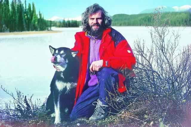 Leoš Šimánek se psem