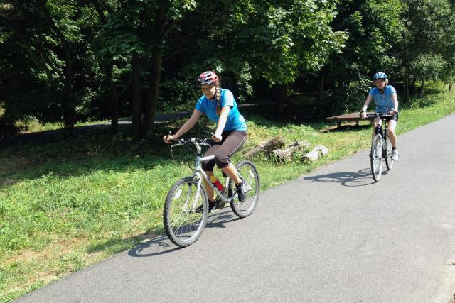 Ukázková cyklostezka v Bezručově údolí