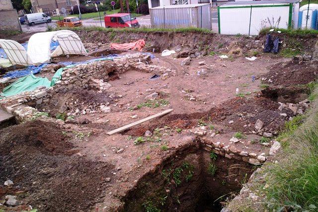 Archeologický průzkum před stavbou parkovacího domu v Berouně