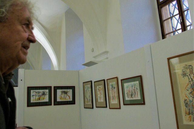 Zdeněk Šindlar na výstavě v jičínské zámecké galerii