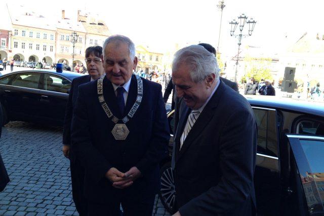 Prezident Miloš Zeman přijel do Jičína