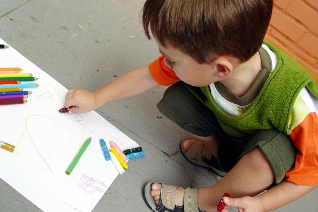 Dítě ve školce. Ilustrační foto