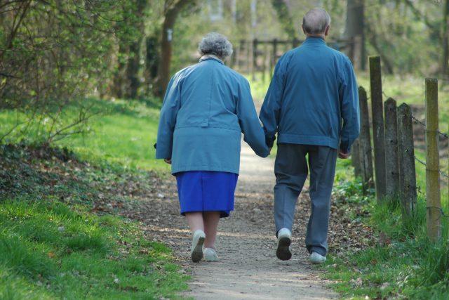 senioři - důchodci - starší pár