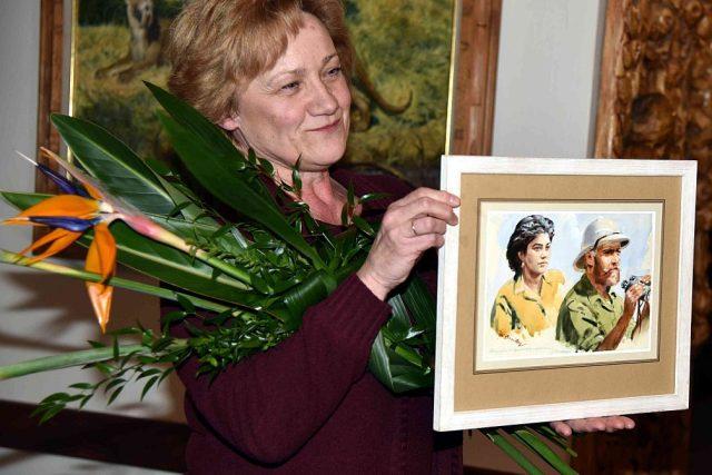 Slavnostní odhalení portrétu manželů Vágnerových od Zdeňka Buriana