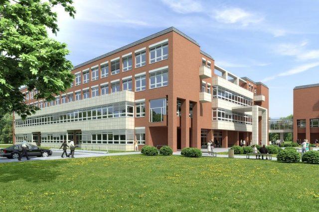Vizualizace nové budovy Přírodovědecké fakulty Univerzity Hradec Králové