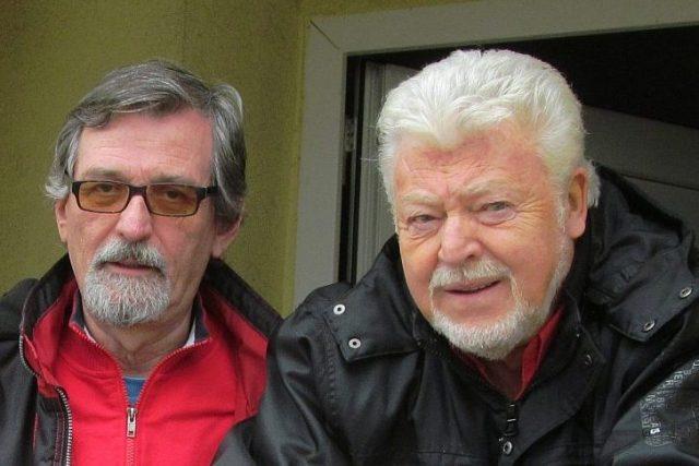Moderátor František Mifek a zpěvák Milan Drobný | foto: Milan Baják,  Český rozhlas