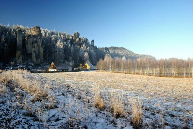 Skalní město v zimě   foto:  Archiv Infocentra Adršpach