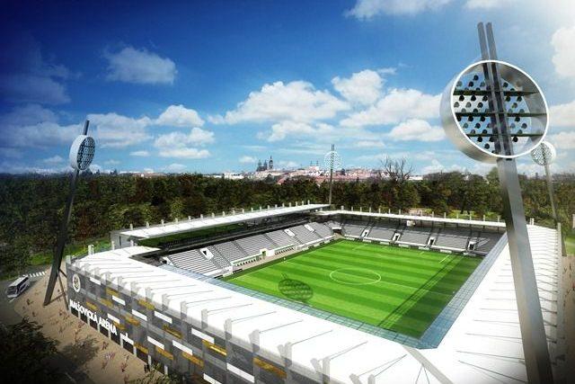 Studie nového fotbalového stadionu v Hradci Králové