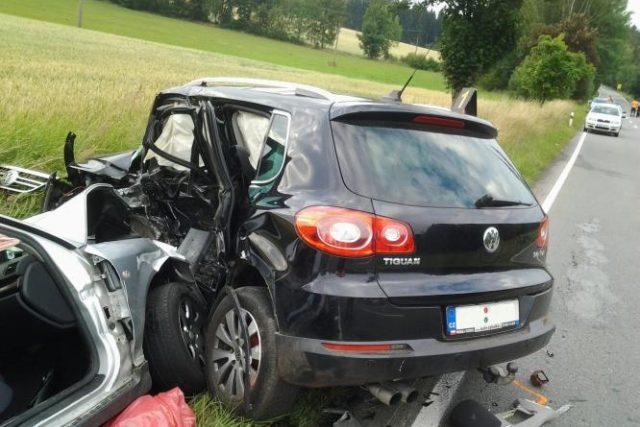 Dopravní nehoda u Telče