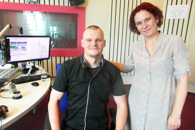 Instruktor SORUDO Petr Moučka a moderátorka Lucie Peterková