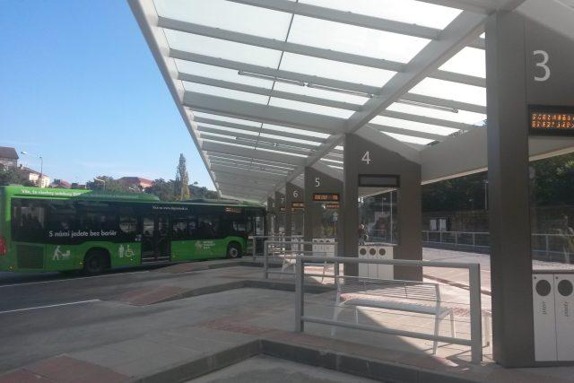 Autobusové nádraží v Litoměřicích po rekonstrukci