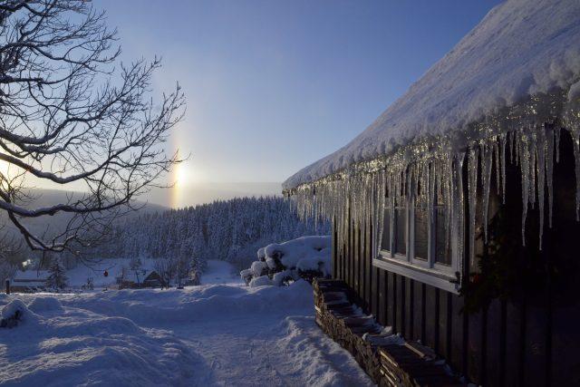 Zima na Malé Úpě může vykouzlit nádherné obrazy | foto: Jiřina Šmídová,  Český rozhlas