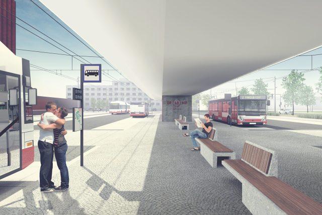 Krytá nástupiště na autobusových zastávkách