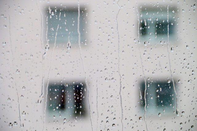okna, okno, déšť