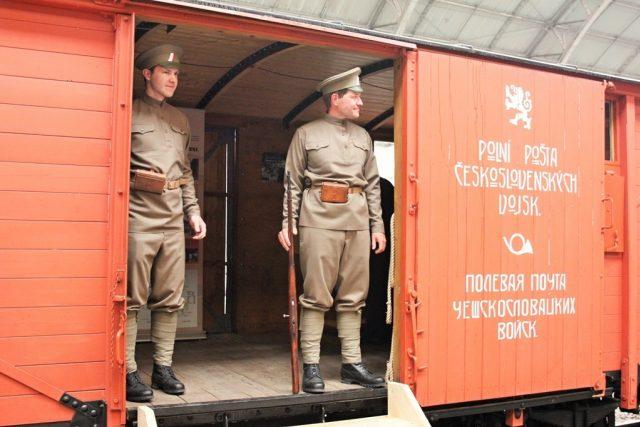 Legiovlak je věrnou replikou vlaku, kterým se českoslovenští legionáři vraceli z první světové války domů