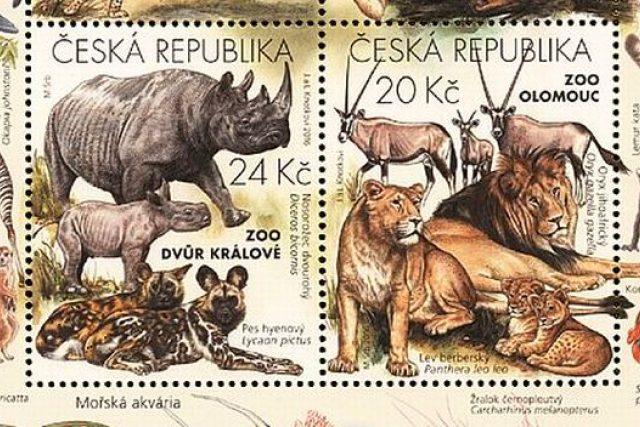 Poštovní známky představují čtyři významné české zoologické zahrady | foto: Simona Jiřičková