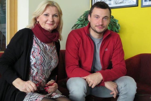 Ondřej Klymčiw s Ladou Klokočníkovou v Radioklubu Českého rozhlasu Hradec Králové