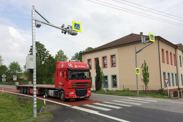 Úsekový radar v Třebovicích