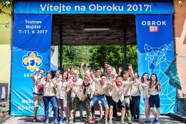 9. ročník celostátního skautského setkání Obrok 2017 v areálu Bojiště u Trutnova | foto: Petr Kalousek