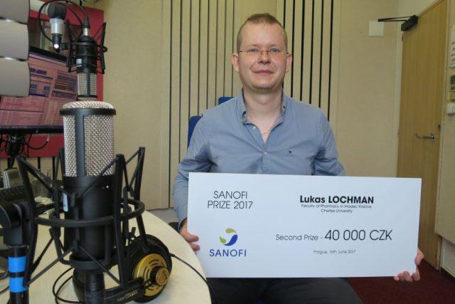 Lukáš Lochman, držitel prestižní vědecké ceny Sanofi, ve studiu Českého rozhlasu Hradec Králové