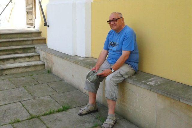 Jiří Mach na Žebrácké lavici v Dobrušce