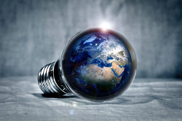 zeměkoule, žárovka