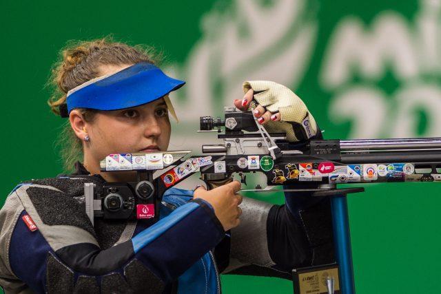 Sportovní střelkyně Nikola Mazurová při soustředění