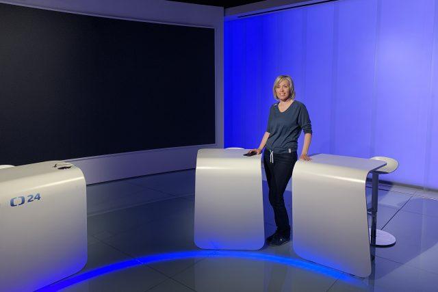 Alena Zárybnická ve studiu   foto: Zdeněk Novák,  Český rozhlas
