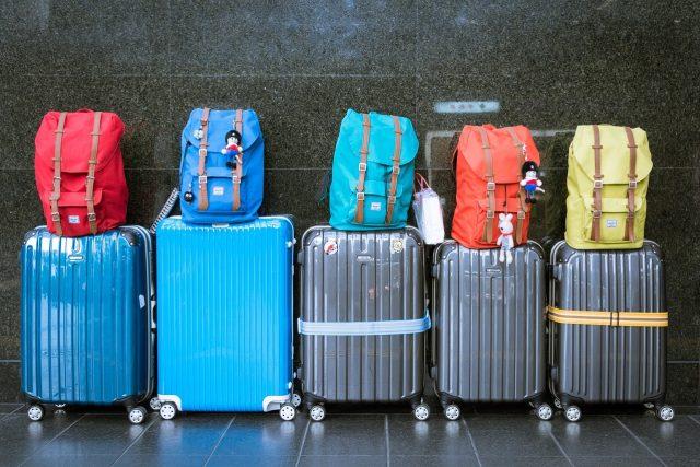 Kufry a batohy jsou častými hosty ve ztrátách a nálezech