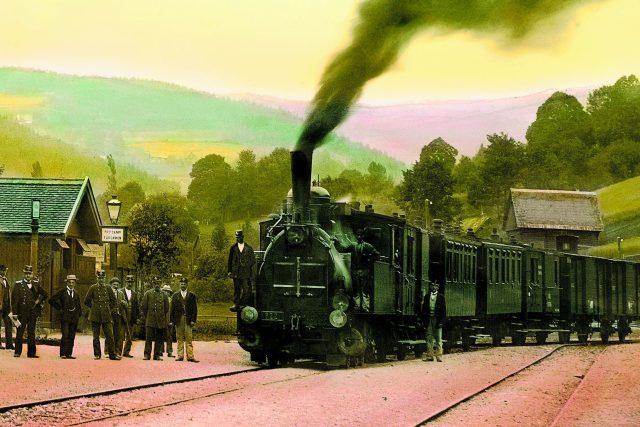 Jablonec nad Jizerou - nádraží v roce 1905