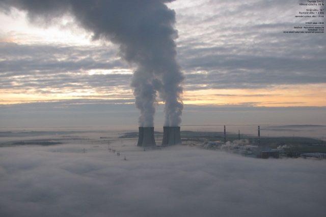 Ranní mlha v Dukovanech | foto: ČHMÚ