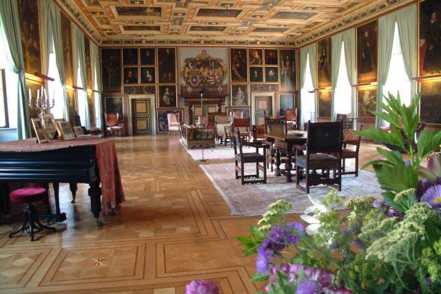 Rytířský sál, který patří mezi jedny z největších renesančních sálů v Čechách vůbec