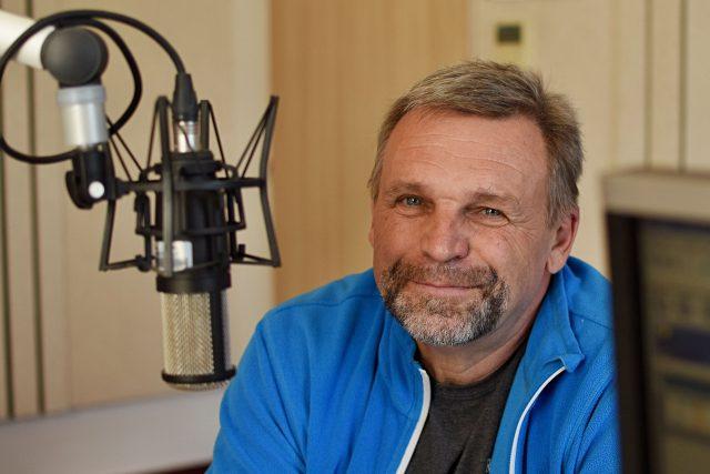 Miloš Zeman, strážce Prachovských skal, ve studiu Českého rozhlasu Hradec Králové