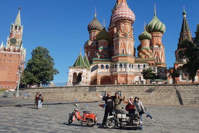 Tak jsme to dokázali a dostali se na Rudé náměstí v Moskvě