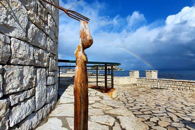 Pobřeží ostrova Korfu   foto: Pavla Smetanová,  Český rozhlas