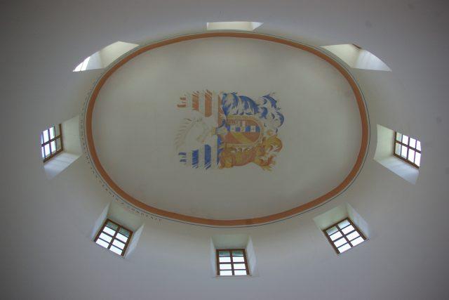 Strop v akustické hodovní síni je ve výšce 16 metrů | foto: Vladislava Wildová,  Český rozhlas
