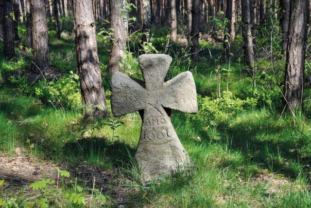 Výrazný kamenný kříž nedaleko osady Ferdinandov u Choustníkova Hradiště  (okres Trutnov)   foto: Martin Witkowski