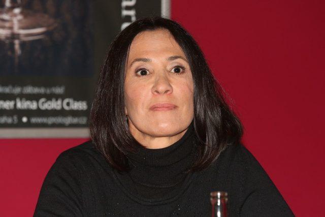 Jolka Krásná na tiskové konferenci při uvedení filmu Lichožrouti   foto: Fotobanka Profimedia