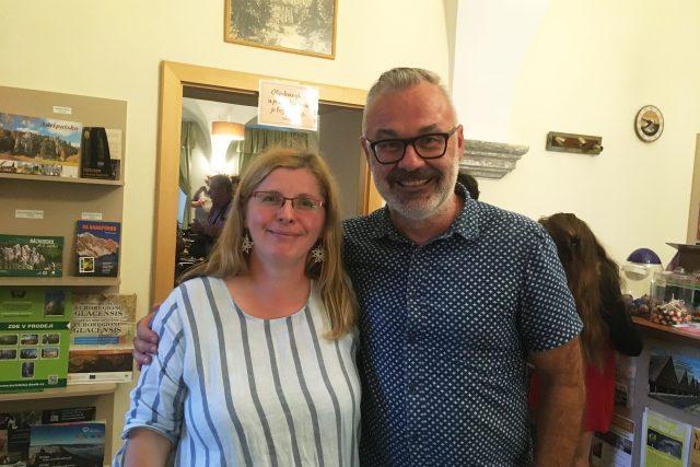 Štěpánka Šichová a Eric Buchholz na slavnostním večeru na zámku Adršpach