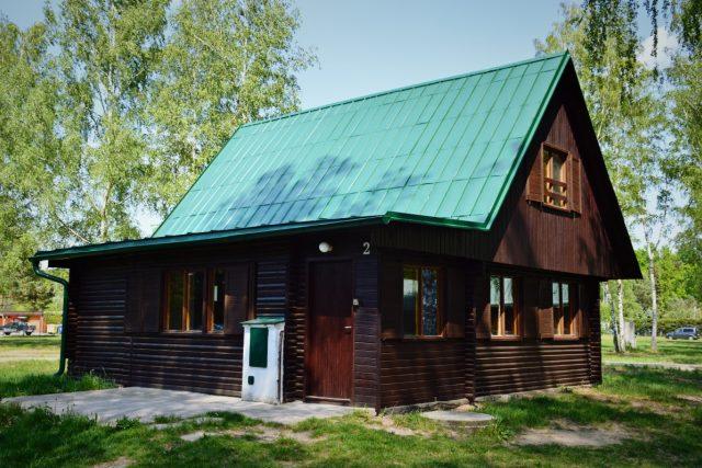 Stříbrná chata v kempu Stříbrný rybník v Hradci Králové