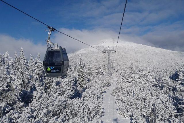 Moderní lanovka na Sněžku