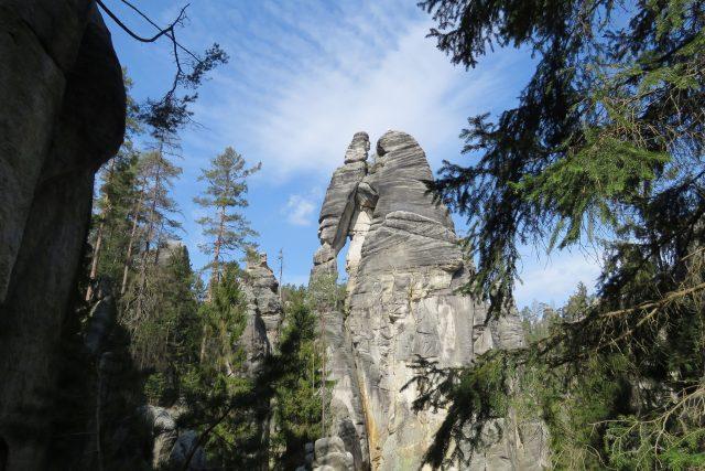 Národní přírodní rezervace Adršpašsko-teplické skály,  Milenci   foto: Petr Kuna