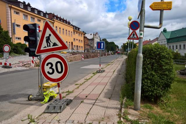 V Žacléři opravuji náměstí | foto: Jana Házová,  Český rozhlas
