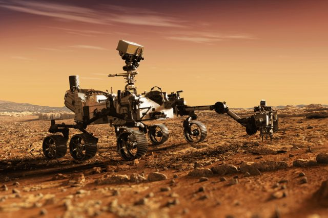 Takhle nějak může vypadat vozítko při práci na Marsu