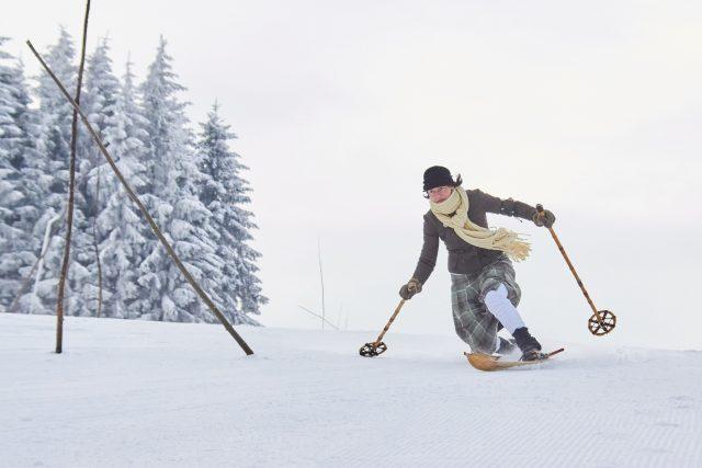 Mistrovství ČR v historickém lyžování v Olešnici v Orlických horách | foto: Michal Martinek