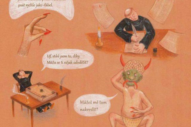 Dobrodružný příběh broumovského kláštera jako komiks