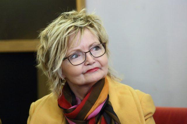 Herečka Eva Hrušková