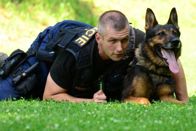 Michal Záruba se svým psím parťákem